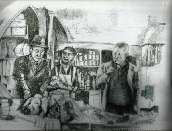 Jean Gabin, Louis de Funès, Bourvil by CatherineGaillard